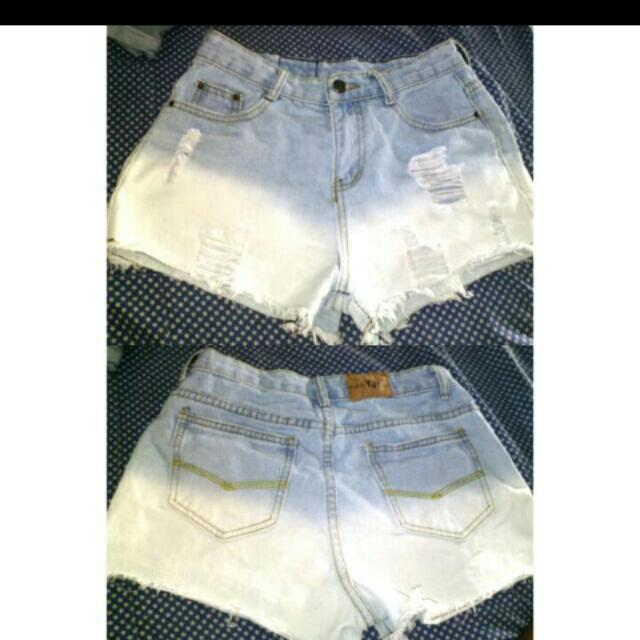 Ripped High Waisted Short
