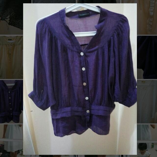Semi Bat Wing Purple Shirt - Kemeja Ungu