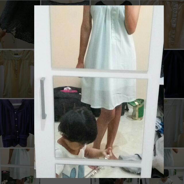 (Preloved) Soft Blue Dress - Biru