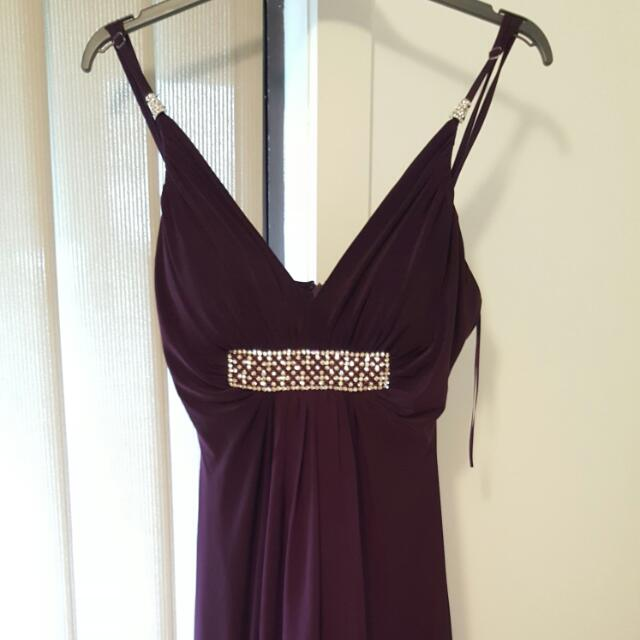 Stunning Floor length Purple Formal Dress