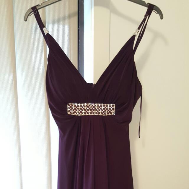 Stunning Floor length Purple Formal Dress