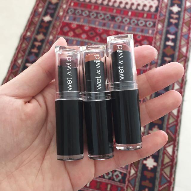 Wet & Wild - Matte Lipstick (3 Nudes Shades)