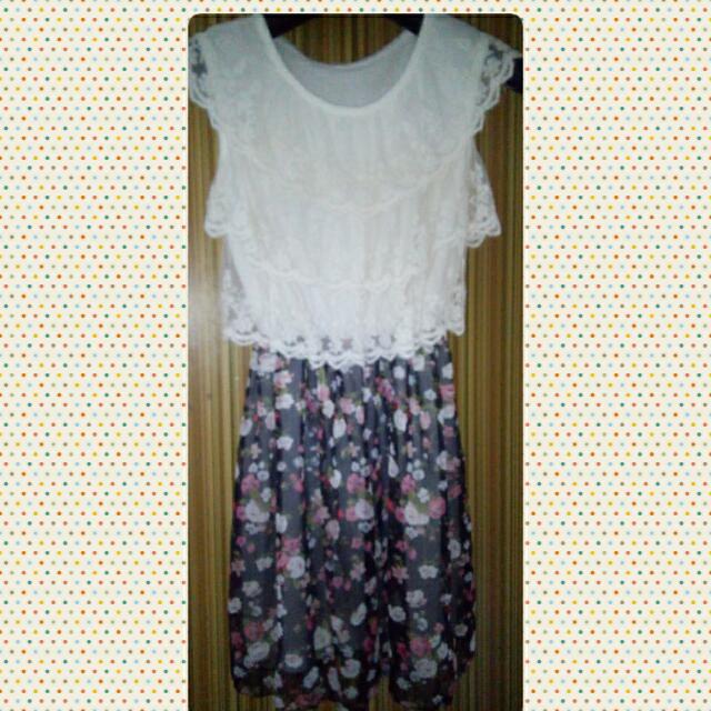 Lace top Floral Dress