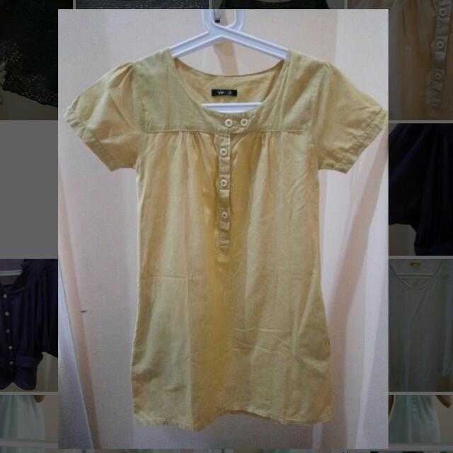 Yellow Mustard Mini Dress - Kuning