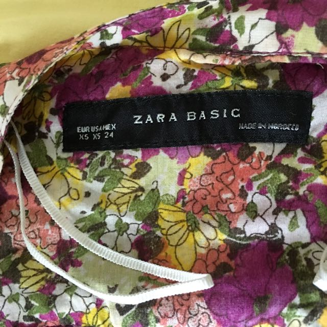 Zara Top Xs Fit To M Flower Casual