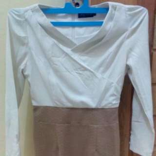 Cream Mocca Dress