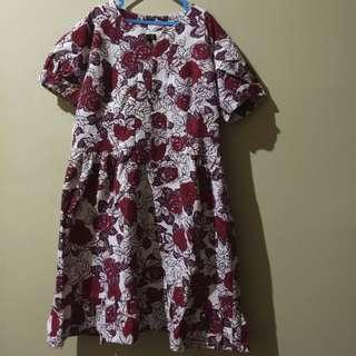 BIG SIZE Flowery Dress