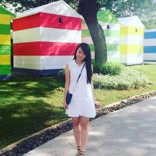Loose White Top. Dress Kemeja Putih