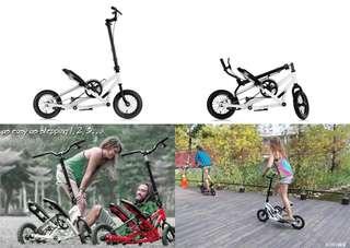 🚚 (5折)TIG系列 :Stepwing 雙翼滑板車/雙翼車/滑板車/蛙式滑板車/蛙式車/三輪滑板車/腳踏車/美腿機/訓練台