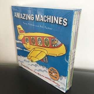 Amazing Machines Collection (10 Books & 1 Cd)