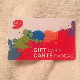 $30 DESERRES GIFT CARD