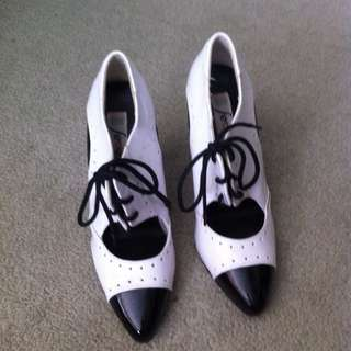 Vintage Black and White Shoes