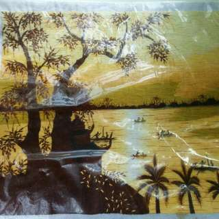 Lukisan Benang Sutera