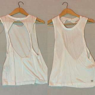 White Backless Top