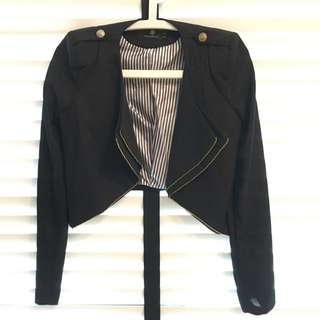 Crop Black Jacket