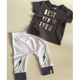 Cotton On Baby - 2 piece Set ( Top & Pants) 3 -6 Months