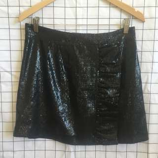 Witchery Black Sequin Skirt Size 10