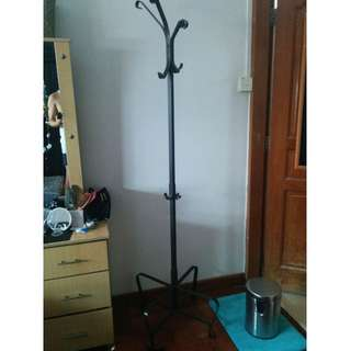 PORTIS Hat and coat stand, black, 191 cm