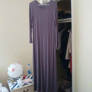 Long Sleeved Grey Dress8