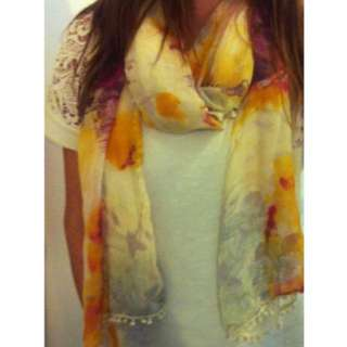 Yellow/purple scarf from Spain