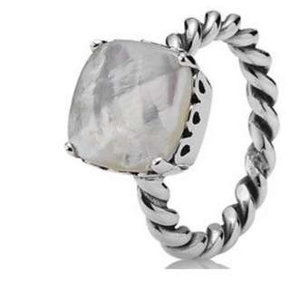 Genuine Pandora Mother Of Pearl Ring