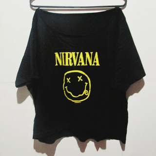 ₱50 OFF! Black Nirvana Crop Top
