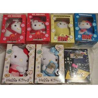 Hello Kitty Limited Edition Collectible Plushies