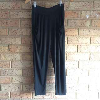 Black Draped Pants