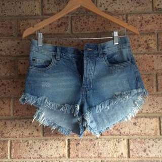 Factory Denim Shorts