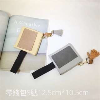 韓國流蘇鑰匙素色手機包手拿包零錢包S