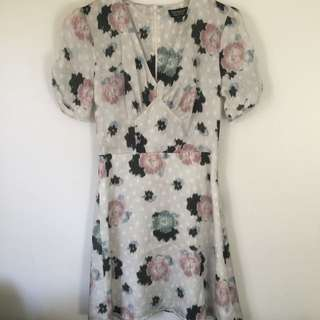 Top shop Floral Tea Dress