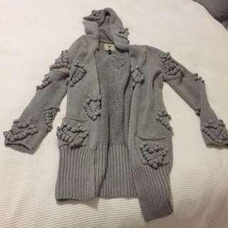 One Teaspoon Hooded Wool Cardi