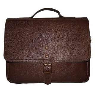 Men's Handmade Genuine Leather Messenger Laptop Bag Business Briefcase CrossBody