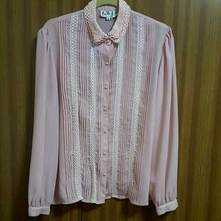 Pastel Pink Collar Blouse