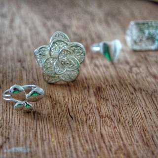 Silver Coated Rings Size 6 (Medium)
