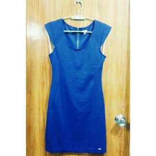 Guess Plain Blue Dress