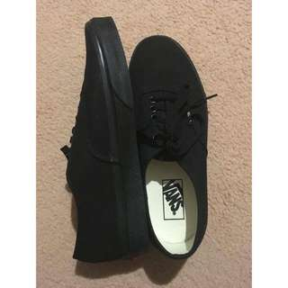 Authentic Black Vans