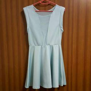 Mint Blue Mesh Dress