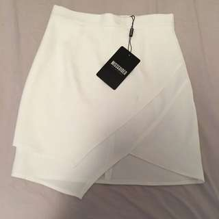 Missguided White Mini Skirt