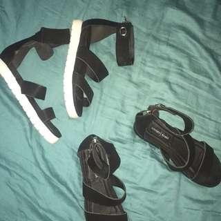 sandals and heels