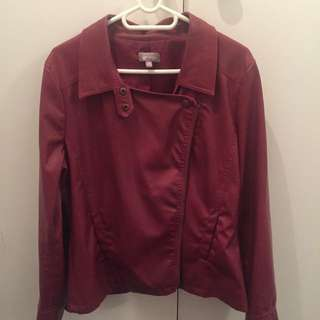 PU Ladies Maroon jacket Size M Suzanne Grae