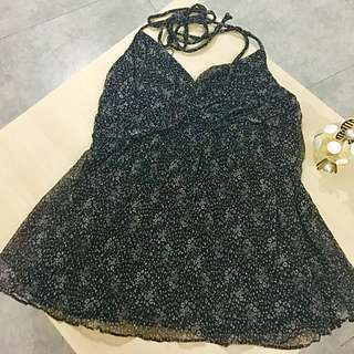 halter neck black pattern
