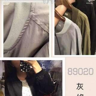 韓版微寬版飛行外套
