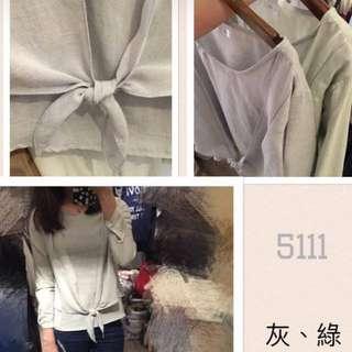 韓版棉麻造型上衣
