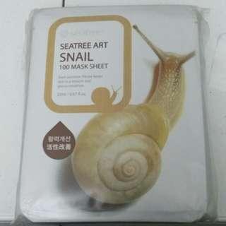 10x Seatree Korean Snail Face Mask Sheets