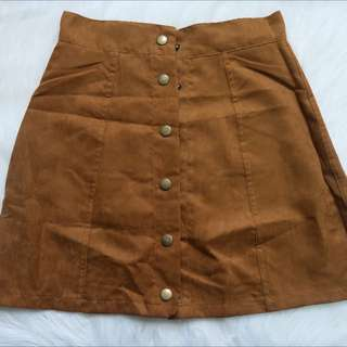 Brand new: Brown button Up Skirt