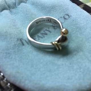 Tiffany 925&750金珠扣戒指 (待匯)