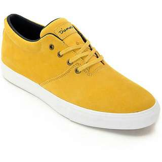 new style f437e 078f2 Diamond Supply Co Torey Mustard   White Skate Shoes
