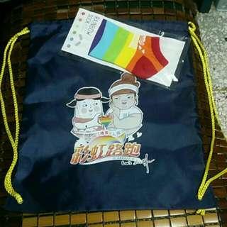 Rainbow sock 束口帶+彩虹襪