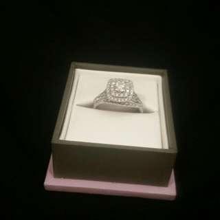 Dimond Engagement Ring & Wedding  Band